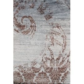 Hand Knotted Modern Bamboo Silk Rug - 6' X 9'- By Pasargad NY Rug #D06630