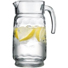 Palais Glassware Cercle Collection; High Quality Clear Glass Set with Circle Design (64 Oz Pitcher, Clear)