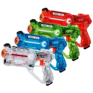 Costway Set of 4 Infrared Laser Tag Guns 4 Players Game Set Battle Blasters Mega Pack - Blue, Red, White, Green