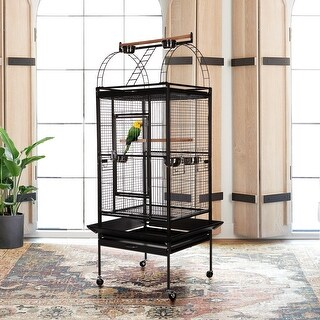 VECELO Bird House Wrought Iron Flight Cage Parrot 53/61/68inch