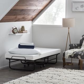 Brookside Rollaway Bed with Memory Foam Mattress