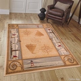 """Allstar African Contours Collection Prints Area Rug (5' 2"""" x 7' 1"""")"""