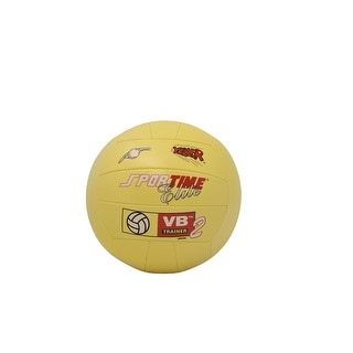 Sportime Elite Volleyball-Trainer II, Regulation Size, Synthetic Leather, Yellow