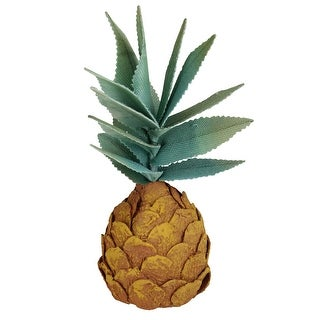 "11"" Orange Tropical Artificial Pineapple Decoration"
