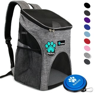 PetAmi Pet Carrier Backpack for Small Cats and Dogs Ventilated Design, Safety Strap, Buckle Support