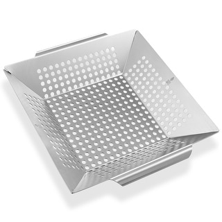 Vegetable Grilling Basket, Stainless Steel by Pure Grill