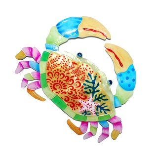 Crab Colorful Wall Decor Small - 9 x 1 x 10