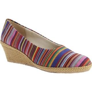 Beacon Shoes Women's Newport Rainbow Guatemalan Stripe Canvas