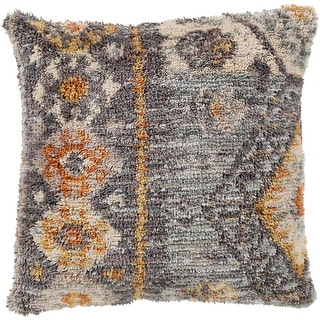 Akiba Southwestern Medium Gray Feather Down or Poly Filled Throw Pillow 18-inch