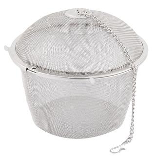 Kitchen Tea Spice Flavoring Filter Infuser Strainer 11cm Dia - Silver