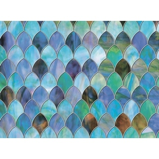 "Brewster PF0710 Peacock Premium 11.5"" x 78"" Sidelight Size Animal Print Static Cling Vinyl Window Film"