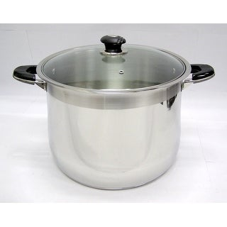 20 Qt Stainless Steel Tri-Ply Clad Heavy Duty Gourmet Stock Pot