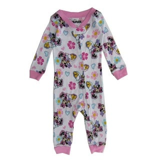 Disney Baby Girls White Pink Minnie Mouse Daisy Duck Footless Sleeper