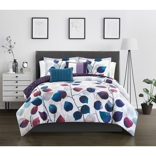 Chic Home Amelie 9 Piece Reversible Bed in a Bag Floral Comforter Set