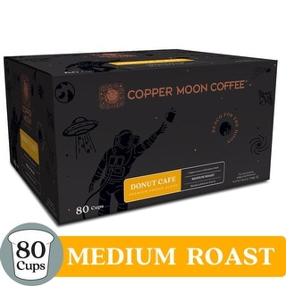 Copper Moon Coffee K-Cups, Donut Cafe Blend, 80 Count - Medium Roast Donut Café Blend Coffee - 80 Count
