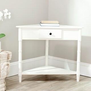 "Safavieh Gomez Cream 1-drawer Corner Table - 33.9"" x 17.3"" x 28"""