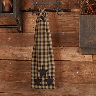 Black Star Button Loop Kitchen Towel - Kitchen Towel 6.5x18