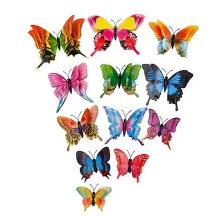 12pcs 3D Butterfly Wall Sticker Decal with Sticker for DIY Bedroom Decoration