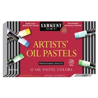 Sargent Art Non-Toxic Large Oil Pastel, 2-23/32 x 7/16 in, Assorted Color, Set of 24