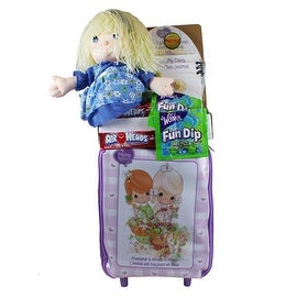 Precious Moments Rolling Backpack Travel Set