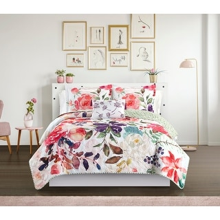Chic Home 4 Piece Domaine Floral Quilt Set