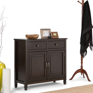"WYNDENHALL Hampshire SOLID WOOD 40 inch Wide Transitional Entryway Storage Cabinet - 40""w x 15""d x 36"" h"