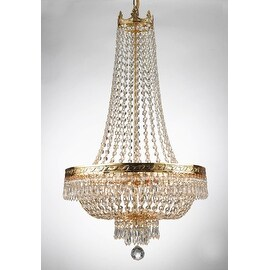 """French Empire Crystal Chandelier Lighting H 30"""" X W 17"""""""