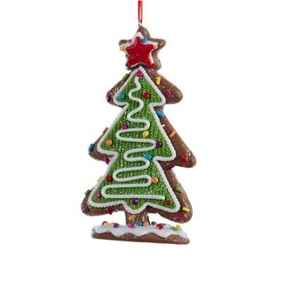 """5"""" Green and White Decorative Tree with Multi-Colored Candy and Star Topper Christmas Ornament"""