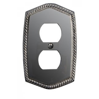 "Renovators Supply 5 1/16 H"" x 3 3/16'' Chrome Finish Roped Cover Single Switch Plate - Silver"