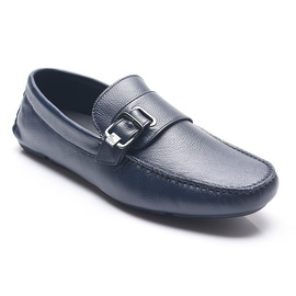 Versace Collection Medusa Buckle Driving Shoes Navy