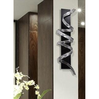Statements2000 3D Metal Wall Art Accent Sculpture Black Silver Abstract Decor by Jon Allen - Knight