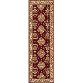 Momeni Persian Garden Burgundy NZ Wool Runner Rug (2'6 X 8')