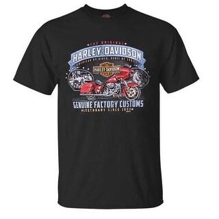 Harley-Davidson Men's Original Customs All-Cotton Short Sleeve T-Shirt - Black