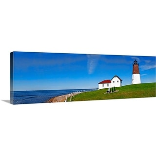 """Point Judith Lighthouse, Narragansett Bay, Rhode Island"" Canvas Wall Art"