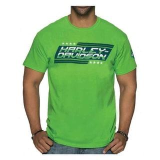Harley-Davidson Men's Legitimacy Crew Neck Short Sleeve Tee - Electric Green