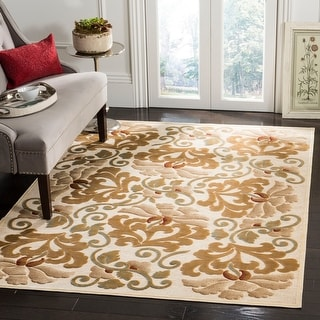 Martha Stewart by Safavieh Handmade Floating Dahlia Viscose Rug