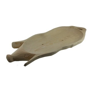 Hand Carved Wooden Pig Platter Decorative Serving Tray 31 Inch - 2 X 31.5 X 12 inches