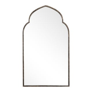 "Delacora UM-W00452 38"" x 22"" Arched Top Cathedral Style Rustic - Dark Bronze"