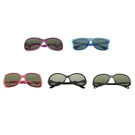 Zodaca Women Polarized 100% UV Protection UV400 Rhinestone Arm Sunglasses Outdoor Eyewear in Assorted Color (Set of 5)