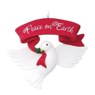 Hallmark 1HAJ1203 Dove Peace On Earth Christmas Ornament, Resin
