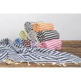 Cabana Stripe Cotton Turkish Beach Bath Towel SET of 10 Super Soft and Chic 72'x39'