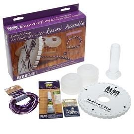 BeadSmith Kumihimo Starter Kit, with Kumi Handle and Round Disk