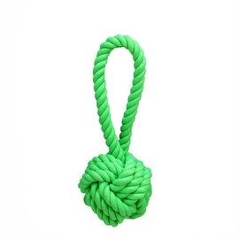 """8"""" Neon Green Non-Toxic Heavy Knotted Dog Rope Tug Toy"""