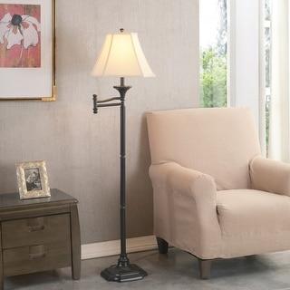 Greenwood Burnished Bronze 59-inch Swing Arm Floor Lamp