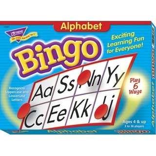 Trend Enterprises Alphabet Bingo with 250 Markers - 4 x 2 inch