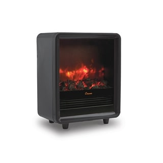 Crane Fireplace Space Heater, Adjustable Heat - Black