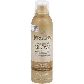 Jergens Natural Glow Foaming Daily Moisturizer, Fair to Medium 6.25 oz