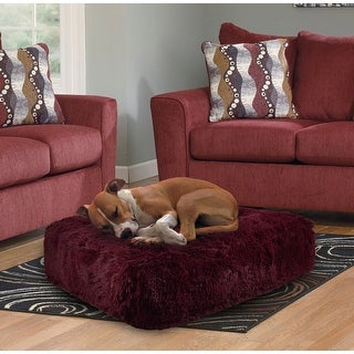 Bessie and Barnie Rosewood Ultra Plush Faux Fur Luxury Shag Durable Sicilian Rectangle Pet/Dog Bed