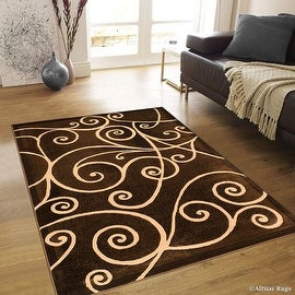 "Allstar Brown Abstract Modern Area Carpet Rug (7' 10"" x 10' 2"")"