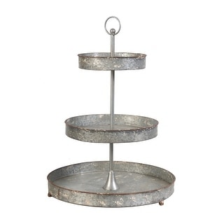Evelyn 24-inch Zinc and Rust Tiered Food Stand